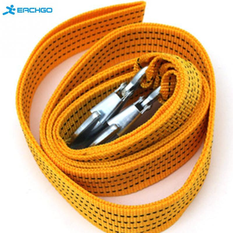 3 tons tow rope Tow Cable Tow Strap Towing Rope with Hooks for Heavy Duty Car Emergency Force trailer rope(China (Mainland))