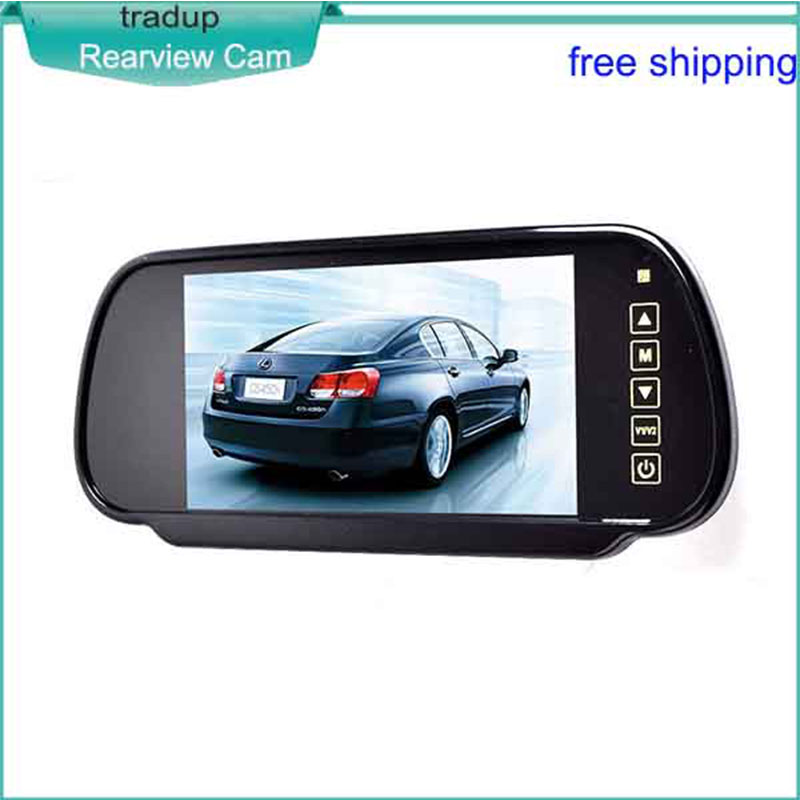 7 Inch Display Screen LCD Car Reversing Rear-View Mirror Camera Digital Screen Able To Connect With Car DVD Hot Selling(China (Mainland))