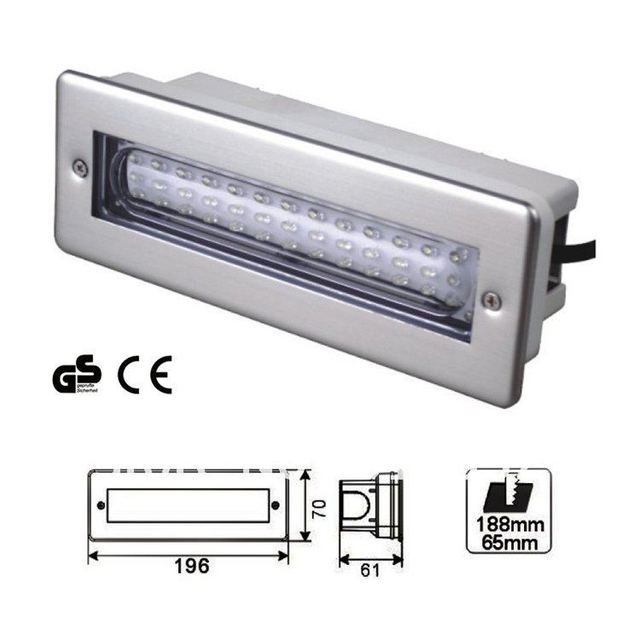 modern 2011 stainledd steel 195lm led stair light