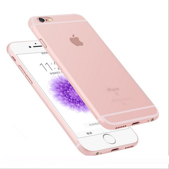 Ultra thin 0.3mm matte Case cover skin for iPhone 6/6S Translucent slim Soft plastic Free Shipping Cellphone Phone case