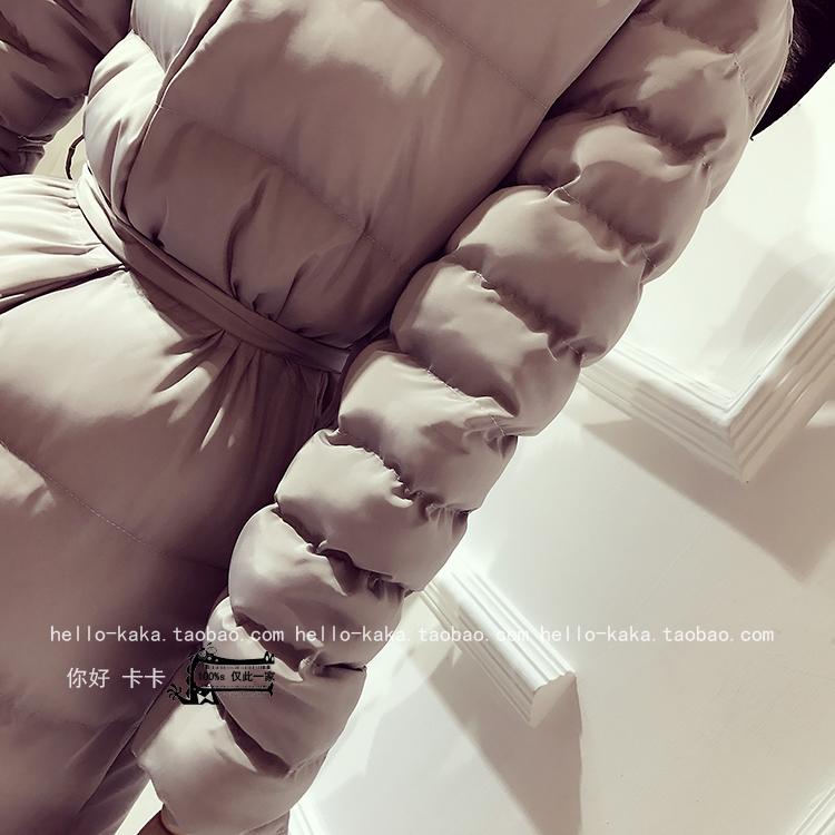 Скидки на 2016 Твердое Нет Срок годности Зима Хлопка-ватник женщин Темперамент Мода Настоящее Фокс Меховым Воротником Длинный Отрезок хлопок Теплое Пальто