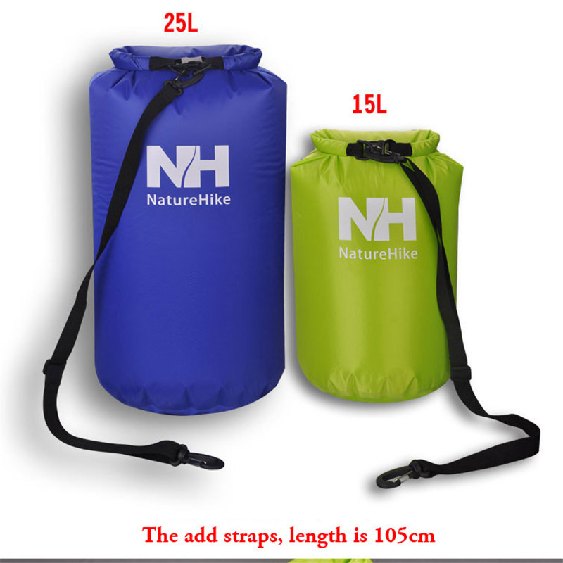 NatureHike 15L 25L Ultralight Outdoor Travel Rafting Camping <font><b>Hiking</b></font> Swimming Waterproof Bag Durable Muitifunctional Dry Bag