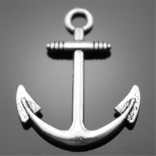Buy 40pcs 31*25mm 2 Colors Antique Silver, Antique Bronze Anchor Charms for $4.99 in AliExpress store
