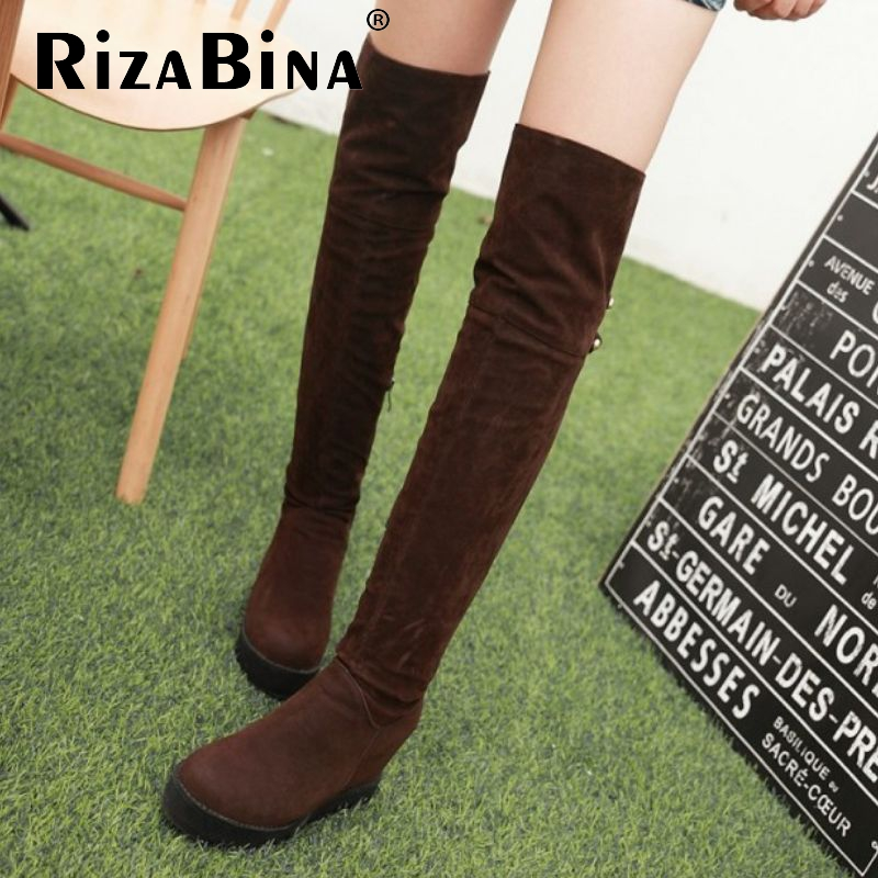 women winter warm women wedge over knee boot fashion round toe flock equestrian long boot brand footwear shoes P22095 size 34-43<br><br>Aliexpress
