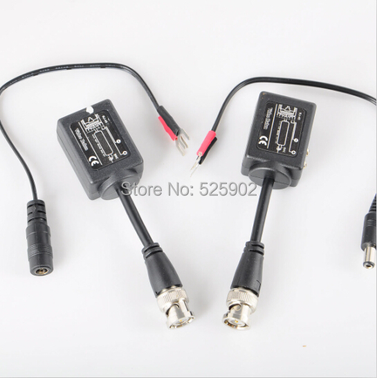 Free Shipping Passive Video Balun for CCTV Network Support all video device(China (Mainland))