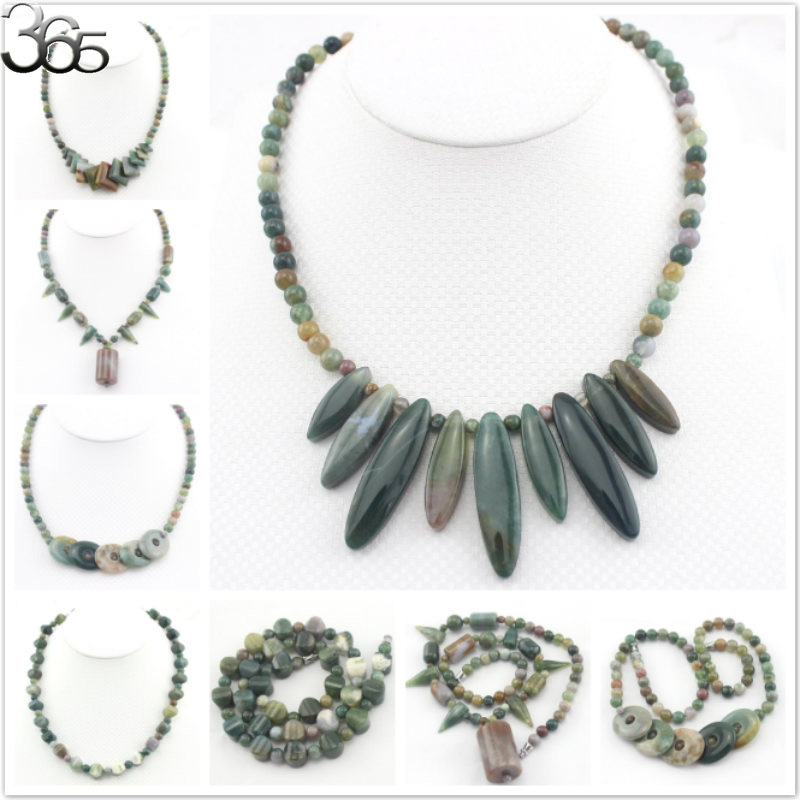 """Free Shipping More Styles Vintage Elegant Natural Gems Stone Indian Agate Onyx Graduated Beaded Women Statement Necklace 18""""(China (Mainland))"""