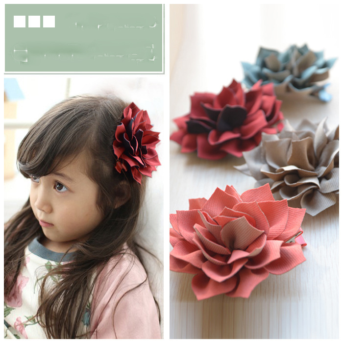 Wholesales(100pcs/Lot) Children Baby Girl's hairpins Hair Clips With Flower Hair ornaments For Girl New year Gift Free Shipping(China (Mainland))