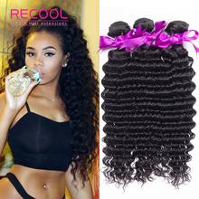 10A Brazilian Deep Wave Virgin Hair 3 Bundles Unprocessed Brazilian Curly Virgin Hair Soft Deep Wave Brazilian Hair(China (Mainland))