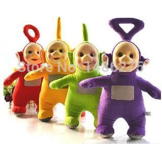 4pcs/set 25CM Free Shipping Toys & Hobbies Stuffed Dolls Teletubbies Vivid Dolls High Quality Hot Selling Plush Toys(China (Mainland))