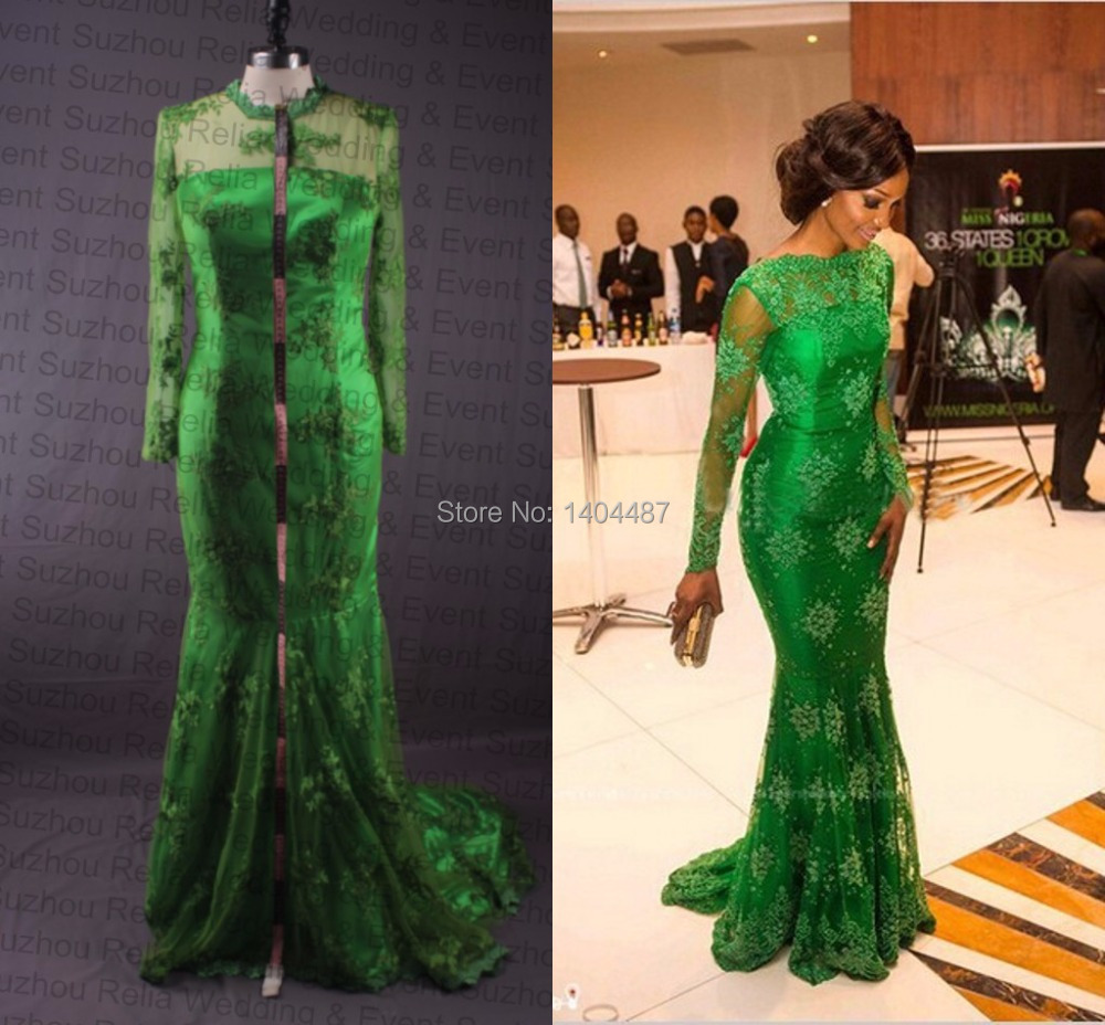 emerald green long sleeve lace dress wrocawski