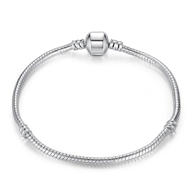 Silver Plated Bracelet Snake Chain Charm Bracelet Jewelry Wholesale Necklace Fashion DiY Accessories Women Bracelet PDL0001(China (Mainland))