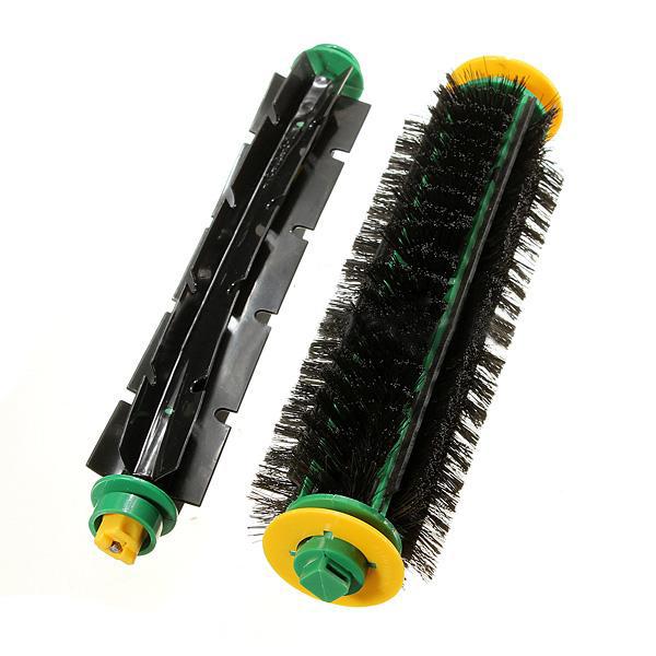 Bristle Brush + Flexible Beater Brush For iRobot Roomba Clean(China (Mainland))