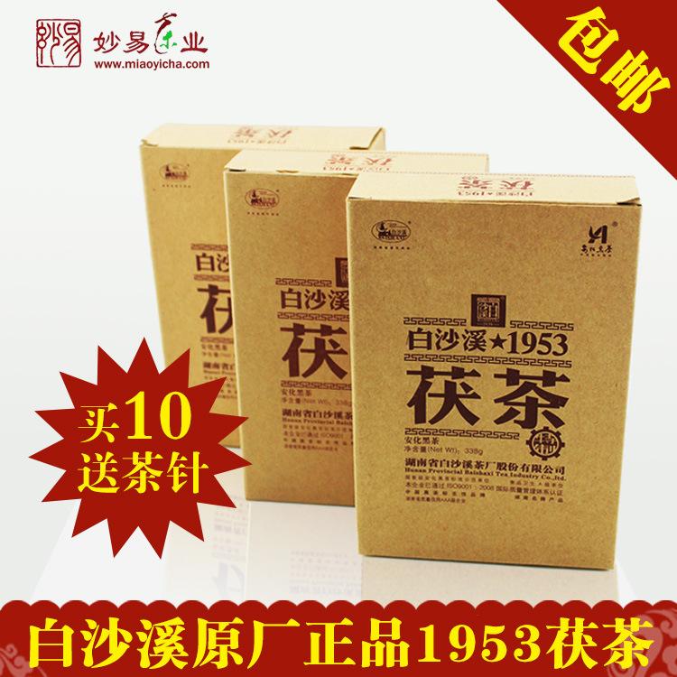 Anhua Baishaxi 1953 Фу Кирпичный чай Камелии Чай Для Похудения Уход Для Похудения Тела 338 г