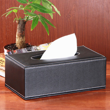 Rectangle S Upmarket PU Leather Tissue Box Car Napkin Box Paper Holder Cover Home Decor Black (China (Mainland))