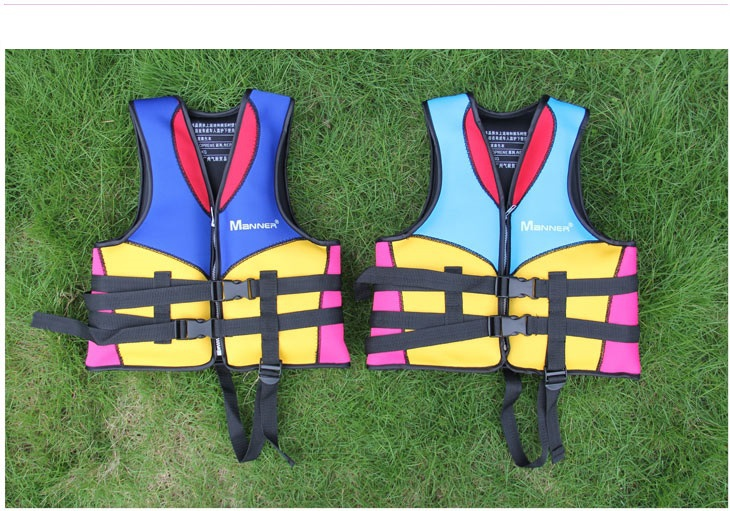 Best quality kids life jackets life-saving 100% NEOPRENE bear the weight of 10-40kg fishing vest for children(China (Mainland))