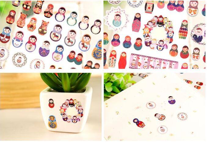 Daisyland MATRYOSHKA Design Diary Gallery Stationery Letter Decorative Paper Sticker Decoration<br><br>Aliexpress