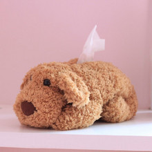 Free Shipping Teddy dog Doll Tissue Box Case Napkin Paper Holder Cover Home Decor toy(China (Mainland))