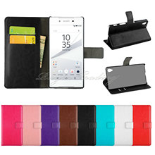 Buy Sony Xperia Z5 / Z5 Compact High Card Slot 2016 New Luxury Leather Wallet Magnetic Flip Cover Stand Case Shell for $2.16 in AliExpress store