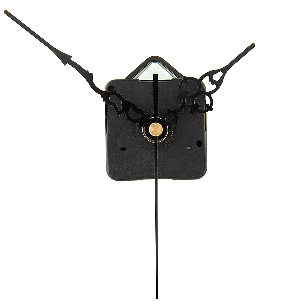 Hot New DIY Mechanism Quartz Clock Movement Parts Replacement Repair Tools Set Kit All-Black Hands Gift(China (Mainland))