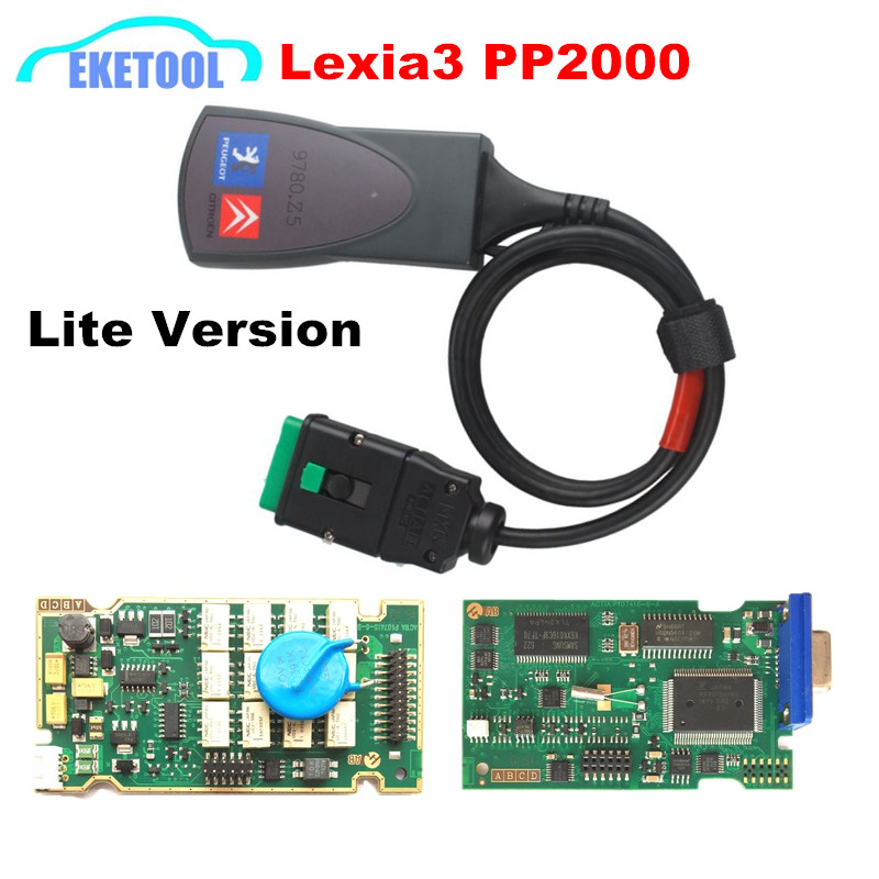 Excellent Function Stable Newest Diagbox V7.76 LEXIA 3 PP2000 Auto Diagnostic Interface LED Light Lexia3 PSA For Citroen/Peugeot(China (Mainland))