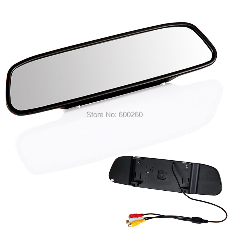 4.3 Inch TFT Car Monitor Mirror View Rearview Auto LCD Screen Backup Camera for Car Reversing Record(China (Mainland))