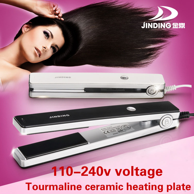 110-240v Dual voltage Hair straightener nano titanium ceramic Styling tools professional pro flat iron hair iron free shipping.(China (Mainland))