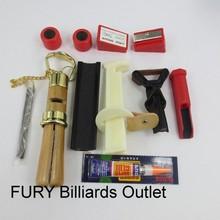 Snooker cue repairs kit/ 10 pcs /Tip sander billiard cue repair tools /Glue File cue tips in billiard accessories(China (Mainland))