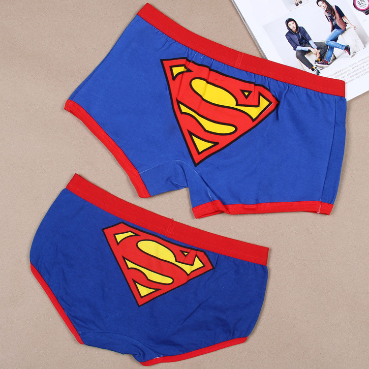 Classic Superman Korean cartoon character couple cotton men's boxer underwear -Triangle a generation of fat(China (Mainland))