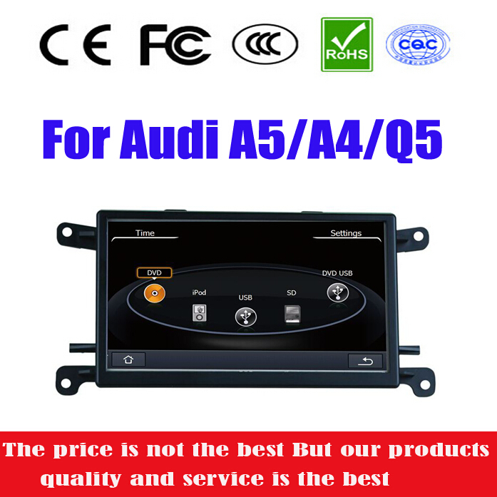 Special Car DVD Player for Audi Q5 A5 A4 with GPS Navigation Radio USB SD AUX iPod MP3 Map Auto Audio Video Stereo SatNav(China (Mainland))