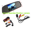 DC 12V 4 3 Inch TFT LCD Color Display Screen Car Rear View Monitor kit 360