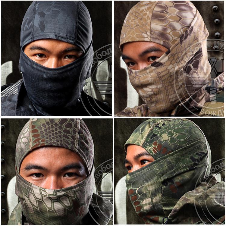 Chiefs Rattlesnake Tactical Airsoft Hunting Wargame Breathing Dustproof Face Balaclava Mask Motorcycle Skiing Cycling Full Hood(China (Mainland))