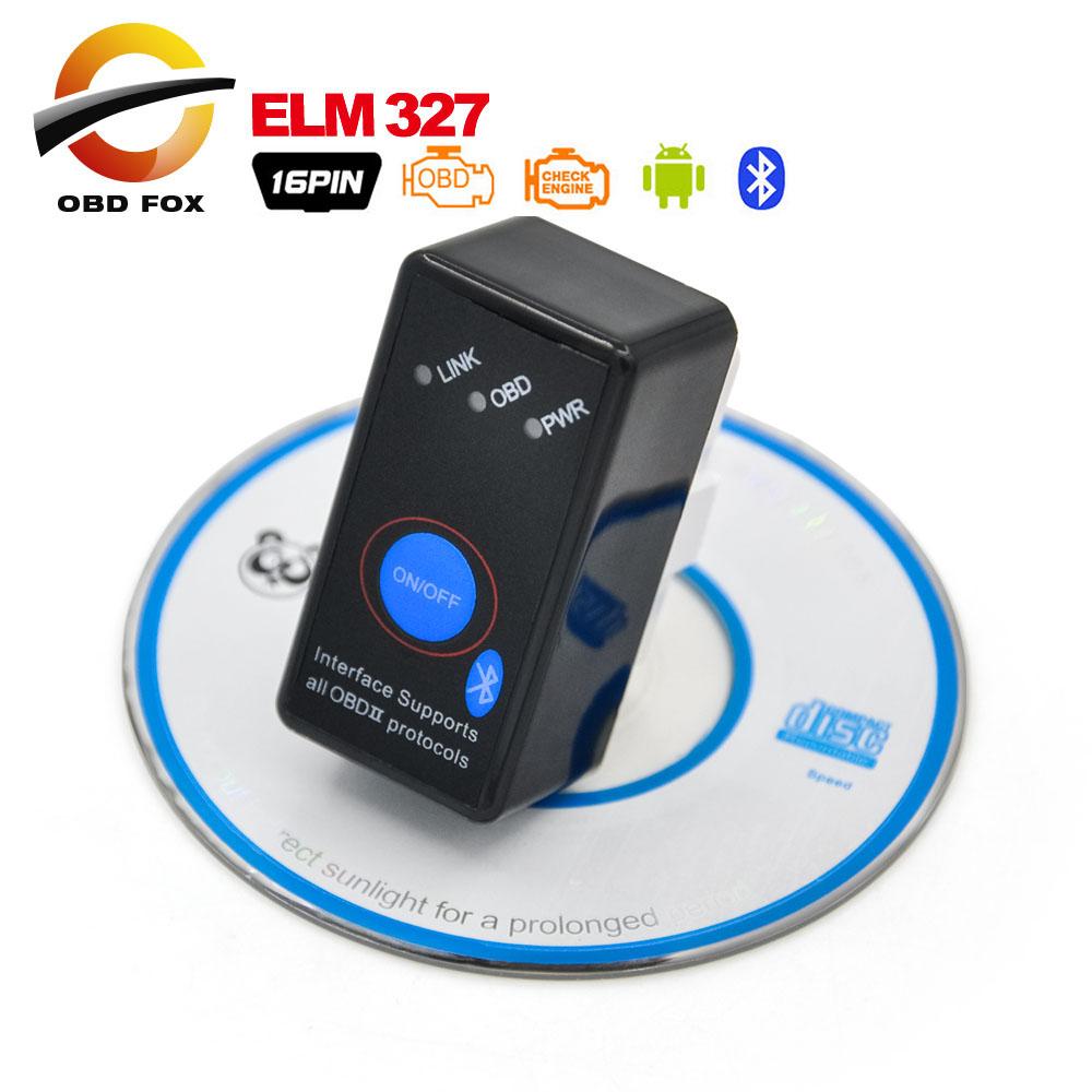 2016 Super Mini ELM327 Bluetooth ELM 327 OBD2 CANBUS diagnostic tool Switch Works Android Symbian Windows stock - OBD FOX TECH Co.,Ltd store