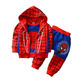 2016 New Autumn Children Tracksuits Spiderman Autumn Baby Boys Sports Suits 3 Pcs Vest Jacket T