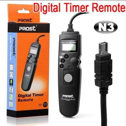 PROST Intervalometer Timer Remote Cord Shutter Release TC-N3 for Nikon Digital SLR D7000 D90 D5000 D5100 D3100 Camera +Wholesale(China (Mainland))