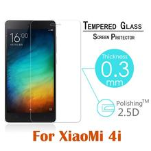 "9H Arc Tempered Glass Screen Protector Oleophobic Coating Explosion-Proof Protective Film for Xiaomi Mi4i 5.0"" free shipping"