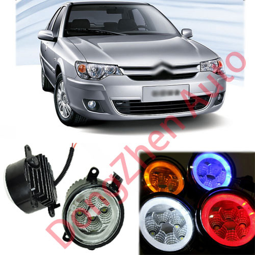 2015 new auto accessories car LED front fog lights strobe line group For Citroen Elysee 2008-2013 car styling parking<br><br>Aliexpress