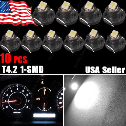 10x T4/T4.2 Neo Wedge Switch Radio Climate Control Bulb Instrument Dashboard Dash Indicator Light Bulb Ac Panel Bulb White Pink(China (Mainland))