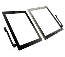 DHL! Touch Screen Glass Digitizer Replacement+ Adhesive Glue Tape 3M with Home Button for iPad 3 Black&white(China (Mainland))