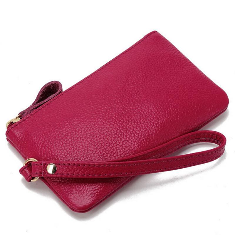 Hot wholesale 2015 new fashion women clutch genuine leather handbag women wallets coin purses(China (Mainland))