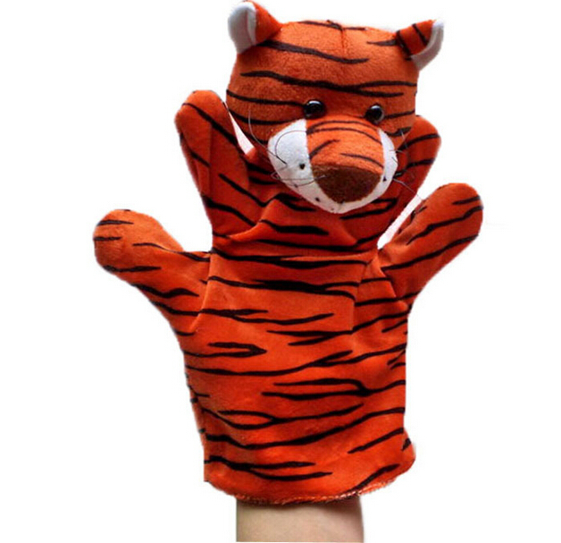 On Sales Cute Lovely Plush & Stuffed African Jungle Animal Hand Puppets set 22cm, 5 pieces/lot Mix Order, 28 Models Available,(China (Mainland))