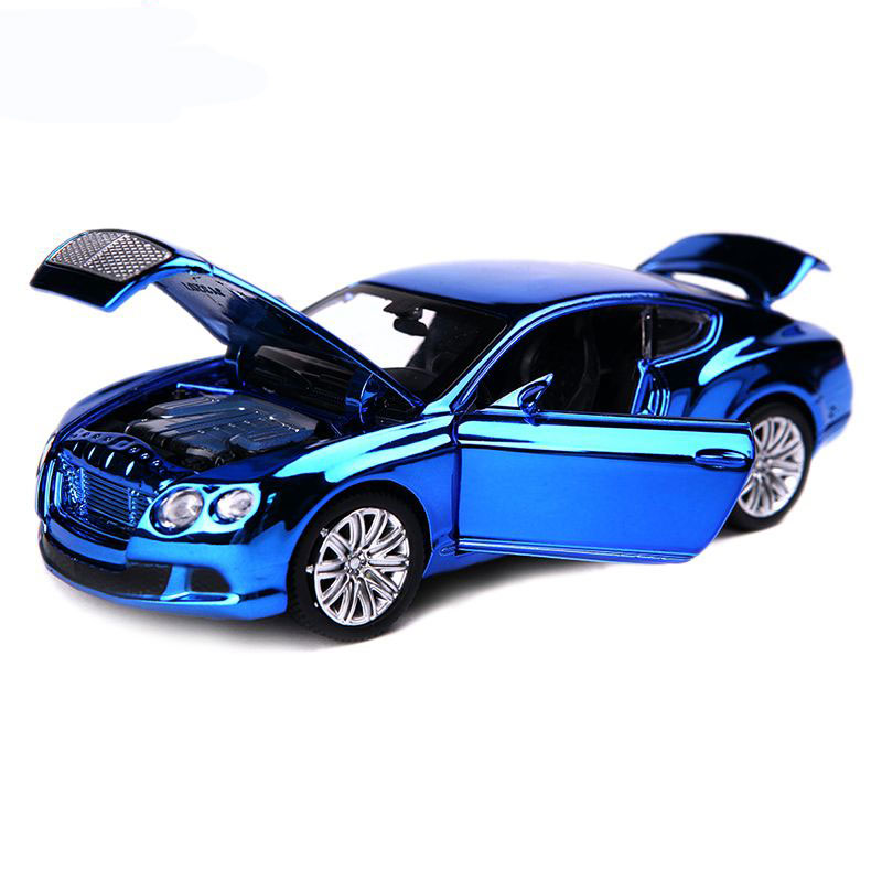 Electroplate Bentley GTW12 Diecast Metal Cars Model 1:32 Autos a Escala with Four Doors Can Opened Mini Simulation Alloy Cars(China (Mainland))