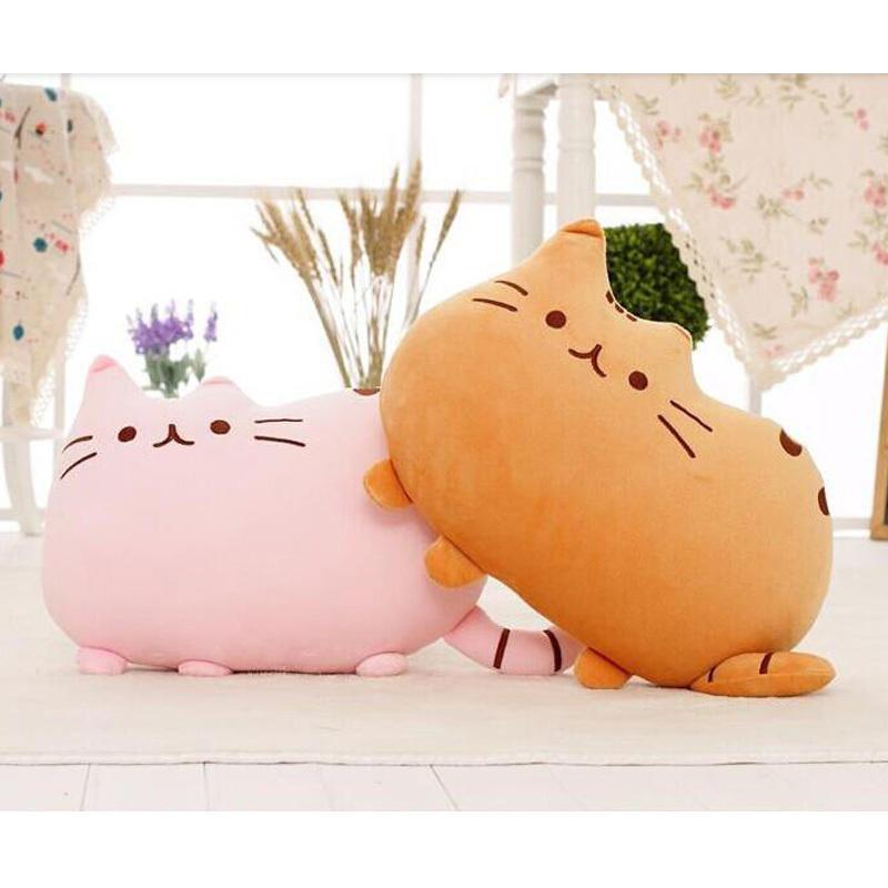 40x30cm Kawaii Cat Pusheen Plush Pillow With Zipper Only Skin Without PP Cotton Pusheen Soft Toys Big Cushion Pillow Cover 02(China (Mainland))