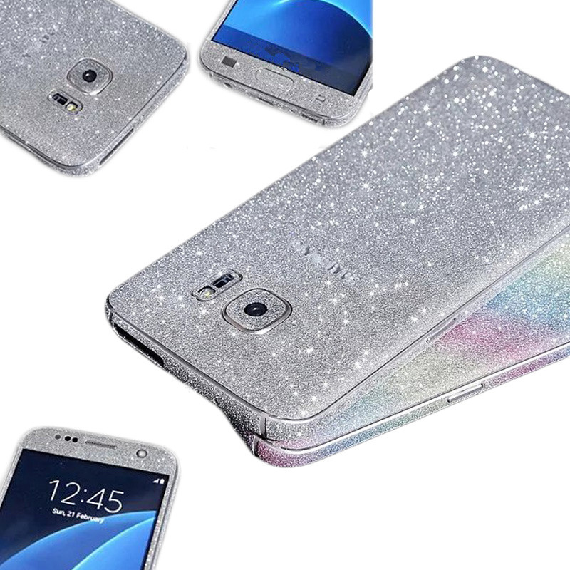 Bling Full Body Ultrathin Scrub Decal Back Film Glitter Case Coque Funda for Samsung Galaxy S7/S6 Edge Plus Luxury 2016 Fundas(China (Mainland))
