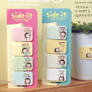 Special offer 3040 lovely girl girl Korean instant convenience stickers creative N cookies 3 pcs/set Memo Pad mixed color(China (Mainland))