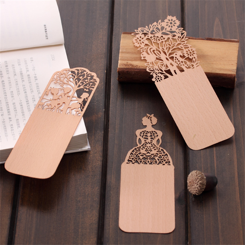 Creative Vintage Hollow Wooden Bookmark Lovely Girl Bookmarks For Book Novelty Item Korean Stationery Free Shipping 447(China (Mainland))