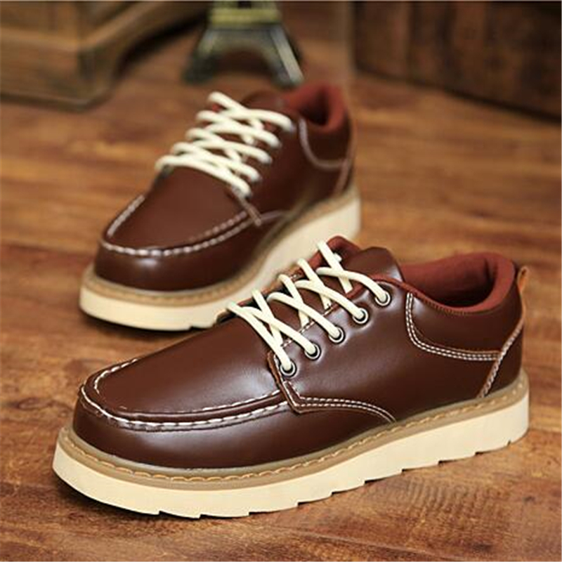 New Autumn winter male fashion martin boots tooling shoes male casual shoes vintage men shoes breathable