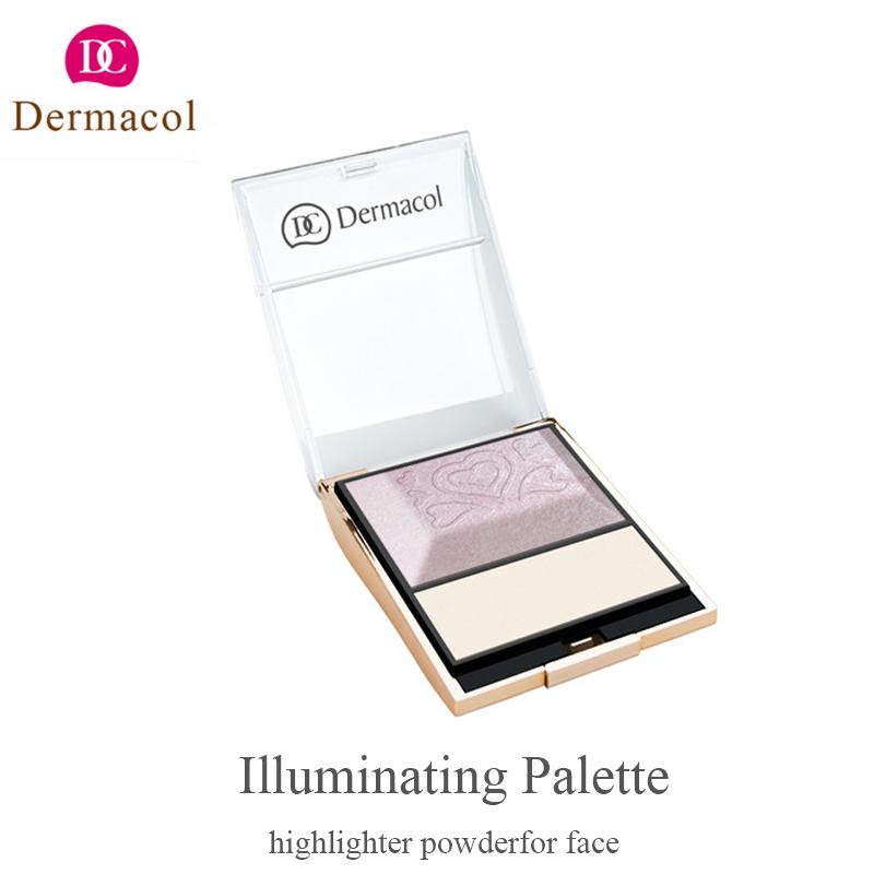 Dermacol Illuminating Palette highlighter powder Palette 8.5g illuminator makeup mary lou manizer highlighter face highlight(China (Mainland))