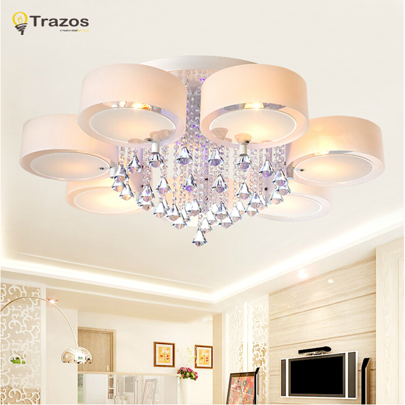 crystal led ceiling lights modern fashionable design dining room lamp
