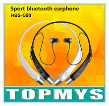 Bluetooth Sport earphone HBS-500 wireless stereo earphone neckhead Earphone bluetooth V4.0 multi-connection with 2 device(China (Mainland))