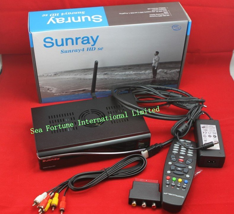Sunray4 WIFI 800 HD DVB-S2+DVB-C+ DVB-T aggregate, triune tuner ,inside 300M WIFI satellite receiver(China (Mainland))